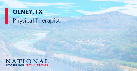 Physical Therapy Job in Olney, Texas Image