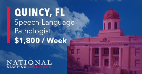 Speech-Language Pathology Job in Quincy, Florida Image