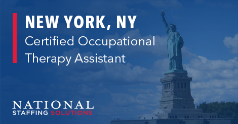 Certified Occupational Therapy Assistant Job in New York, New York Image