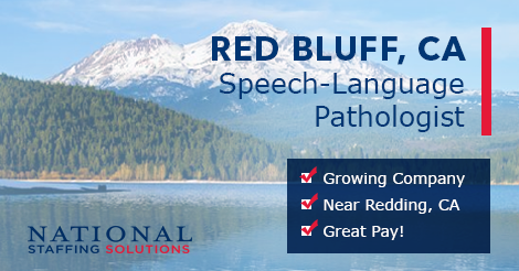 Speech-Language Pathology Job in Red Bluff, California Image