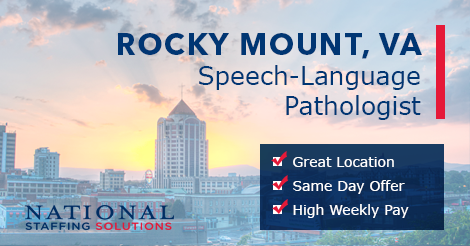 Speech-Language Pathology Job in Rocky Mount, Virginia Image